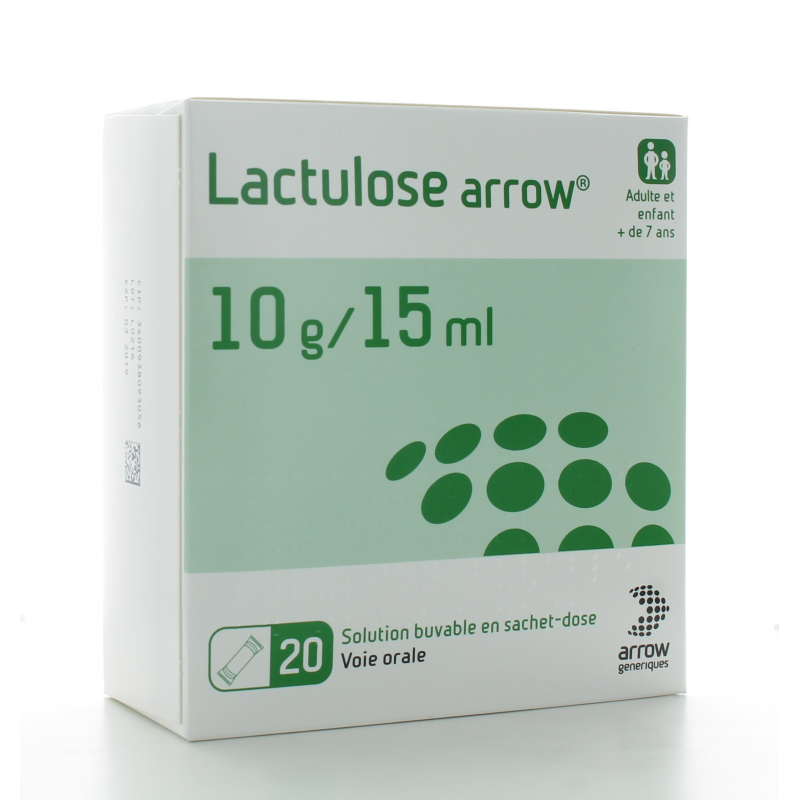 Lactulose Arrow 10g/15ml Solution Buvable 20 sachets