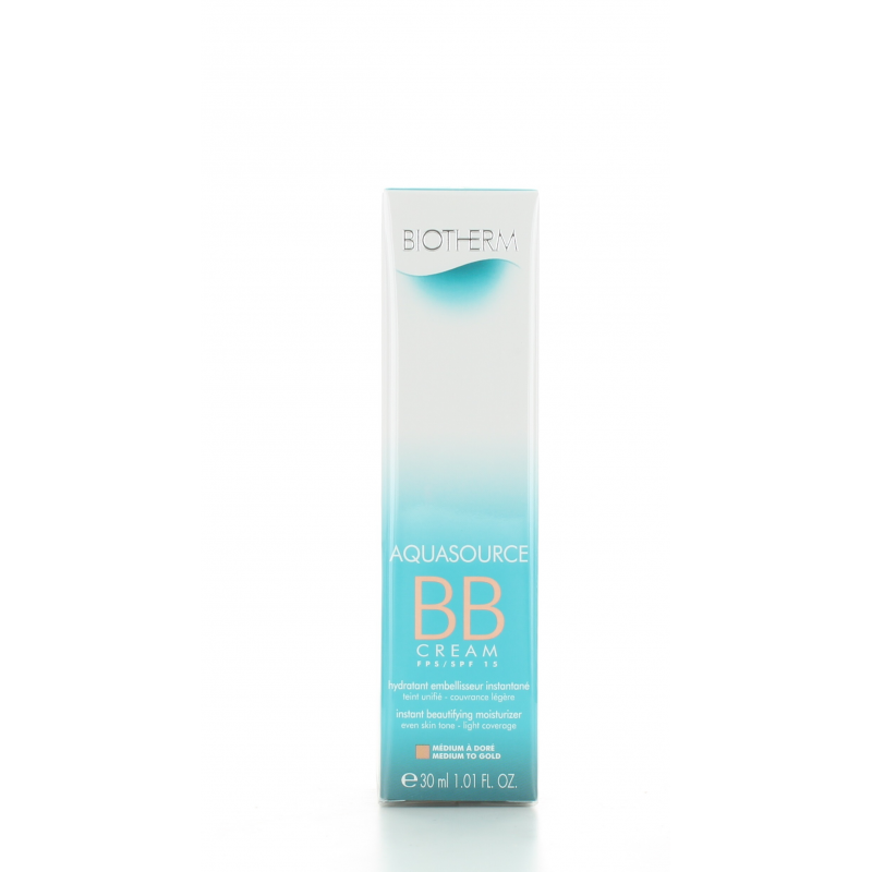 BB Cream Médium à Doré Aquasource Biotherm 30 ml