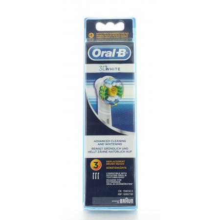 Brossettes Oral-B 3D White X3