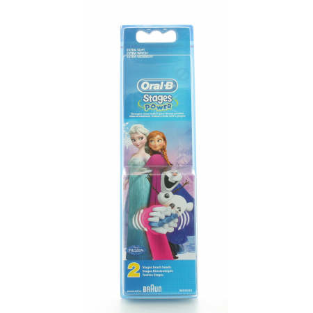 Oral-B Enfant Brossettes Stages Power La Reine des Neiges X2