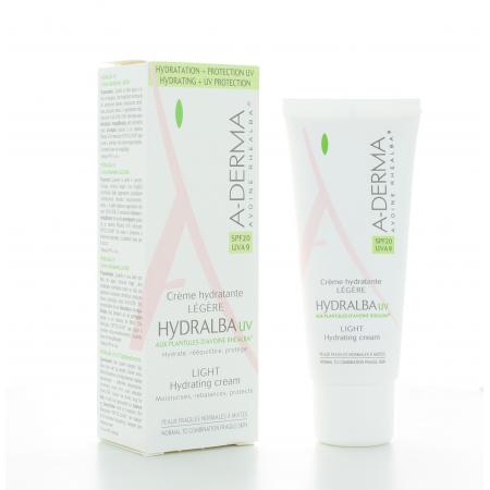 ADerma Crème Hydratante Légère Hydralba UV 40 ml