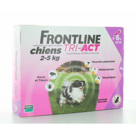 Frontline Tri-Act Chiens 2-5 kg 6 X 0,5ml