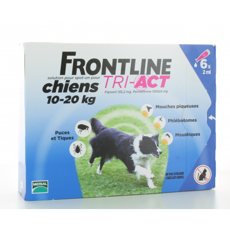 Frontline Tri-Act Chiens 10-20 kg 6x2ml