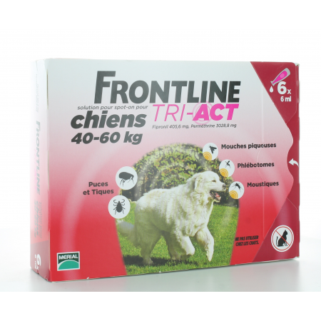 Frontline Tri-Act Chiens 40-60 kg 6 X 6 ml