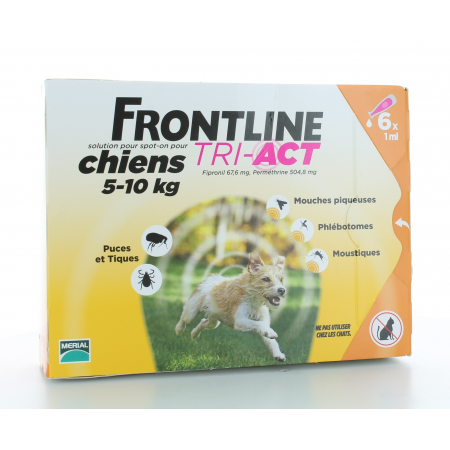 Frontline Tri-Act Chiens 5-10 kg 6 X 1 ml
