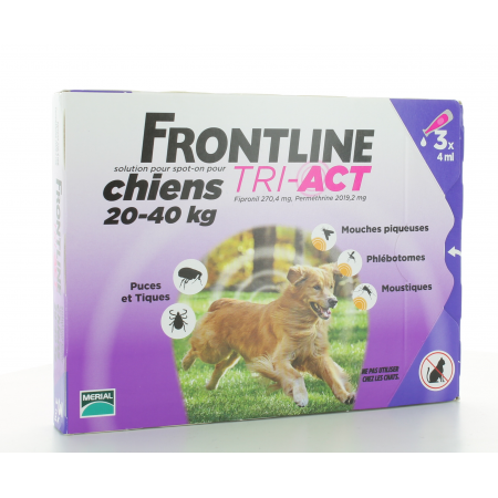 Frontline Tri-Act Chiens 20-40 kg 3 X 4ml