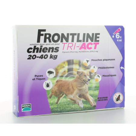 Frontline Tri-Act Chiens 20-40 kg 6 X 4ml