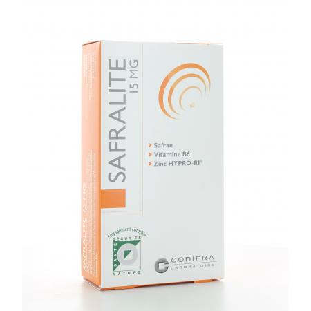 Safralite 15 mg Codifra 28 gélules