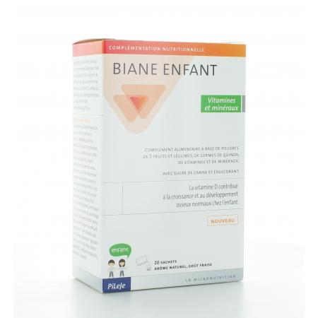 Biane Enfant Vitamines et Minéraux 20 sachets