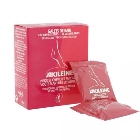 AKILEINE GALETS DE BAIN EFFERVESCENTS ET REVITALISANTS BOITE 6