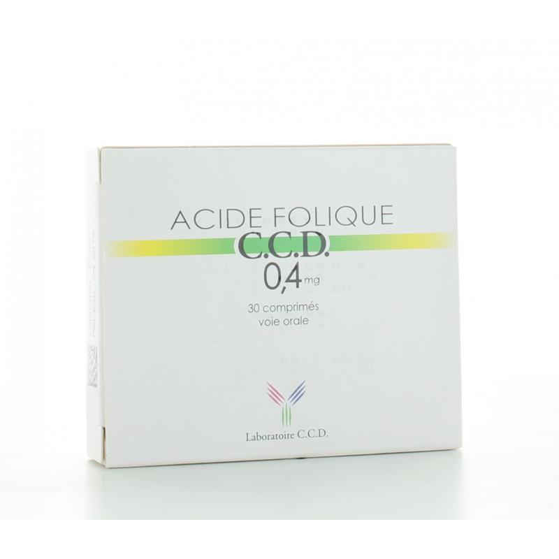 Acide Folique 0,4 mg C.C.D 30 comprimés