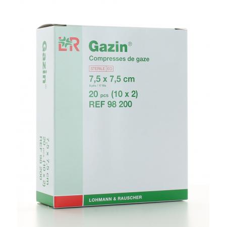 Compresses de gaze stériles Gazin 7,5 X 7,5cm - 20 pièces