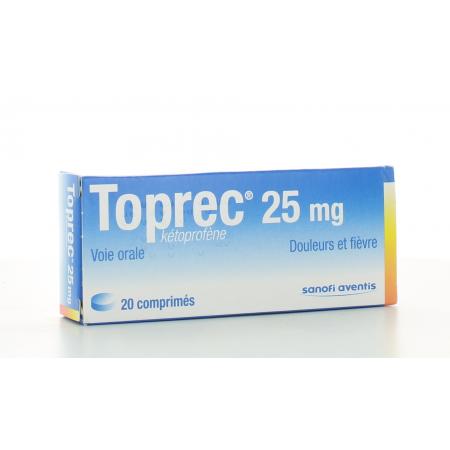 Toprec 25 mg 20 comprimés