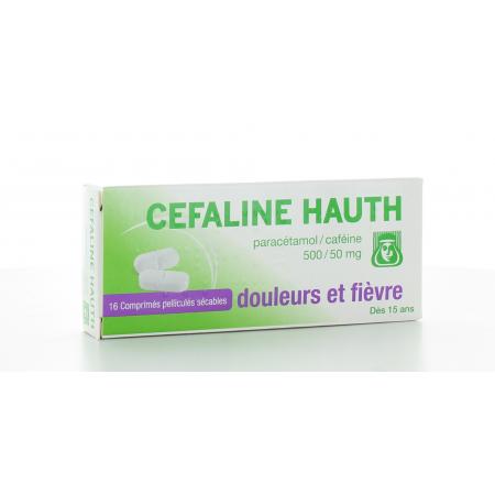 Céfaline Hauth 500 mg/50 mg 16 comprimés