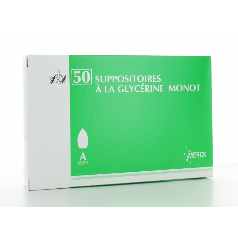 Suppositoires à la Glycérine Monot X 50