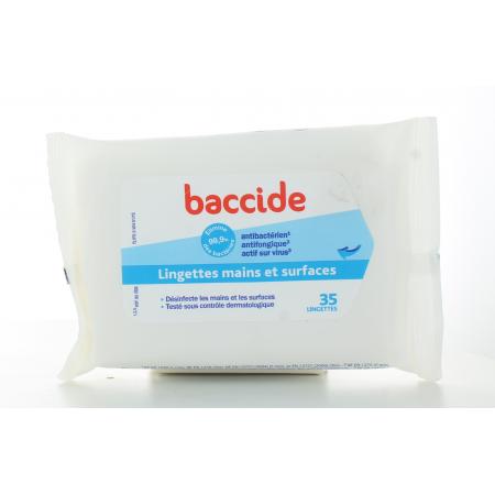 Baccide Lingettes Mains et Surfaces X35