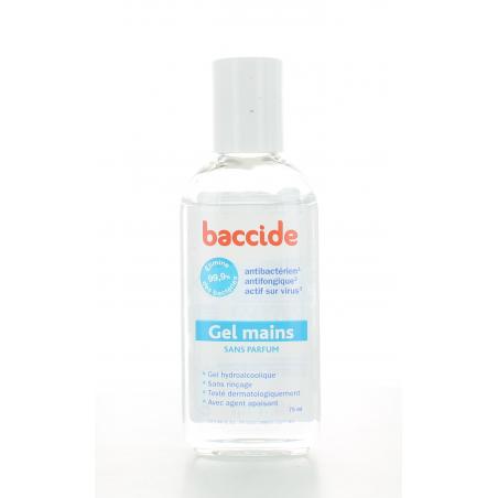 Baccide Gel Mains sans parfum 75 ml