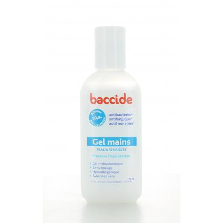 Baccide Gel Mains Peaux Sensibles 75 ml