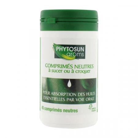 Comprimés Neutres pour Huiles Essentielles Phytosun Aroms X45