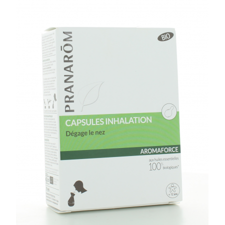 Capsules Inhalation Bio Aromaforce Pranarôm X15