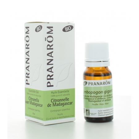 Huile Essentielle de Citronnelle de Madagascar Bio Pranarôm 10 ml