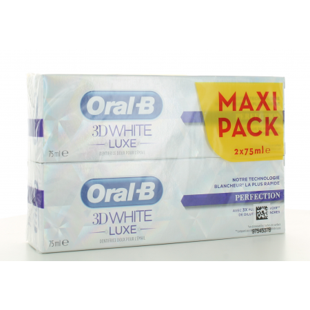Dentifrice 3D White Luxe Perfection Oral-B 2X75 ml