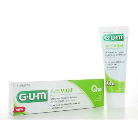 Dentifrice ActiVital Q10 GUM Sunstar 75ml