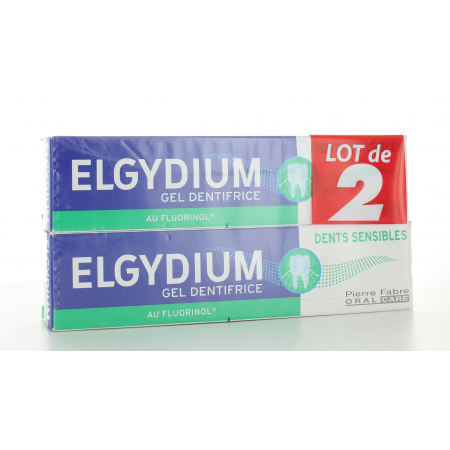 Dentifrice Elgydium Dents Sensibles 2X75 ml