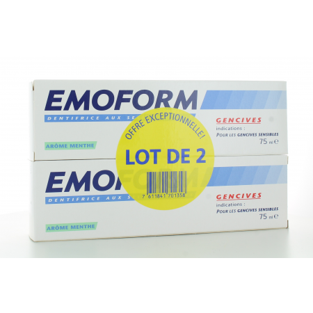 Dentifrice Emoform Gencives Menthe 2X75 ml