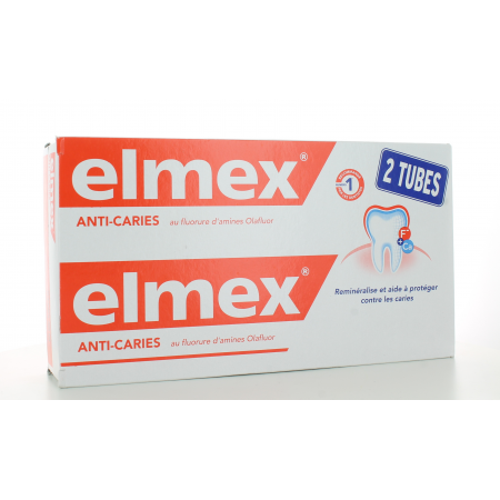 Elmex Dentifrice Anti-Caries 2X125 ml