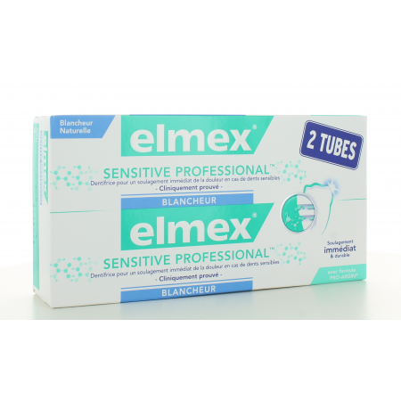 Dentifrice Elmex Sensitive Professional Blancheur 2X75 ml
