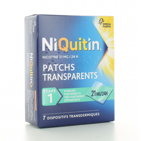 Niquitin 21mg/24h 7 patchs
