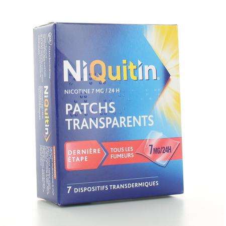 Niquitin 7mg/24h 7 patchs transdermiques