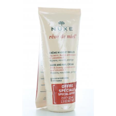 Crème Mains et Ongles Rêve de Miel Nuxe 2X50 ml