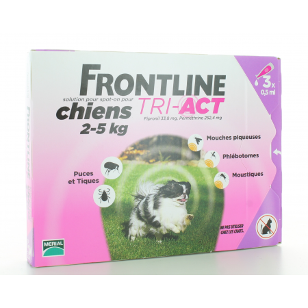 Frontline Tri-Act Chiens 2-5 kg 3 X 0,5ml