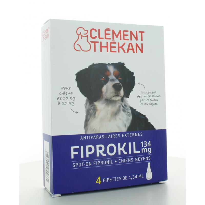 Fiprokil 134 mg Chiens Moyens Clément Thékan 4 pipettes