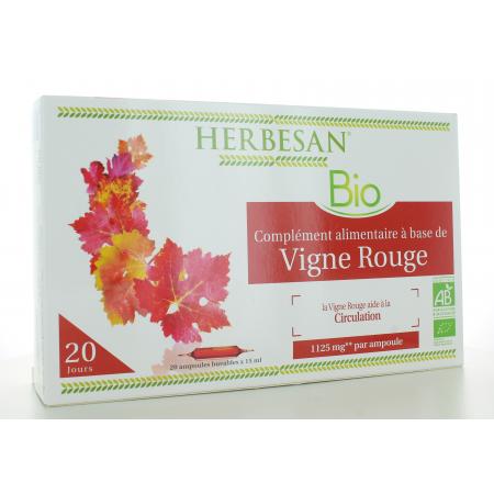 Herbesan Bio Vigne Rouge 20 ampoules