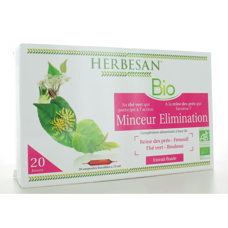 Herbesan Bio Minceur Élimination 20 ampoules