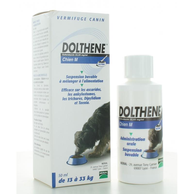 Vermifuge Dolthene Chien M 13-33kg 50 ml