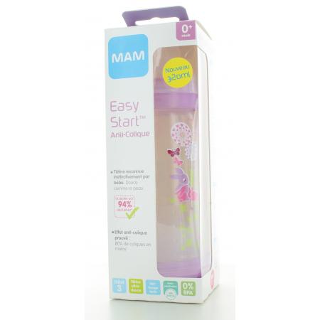 Biberon Easy Start Anti-colique Rose 320ml Mam