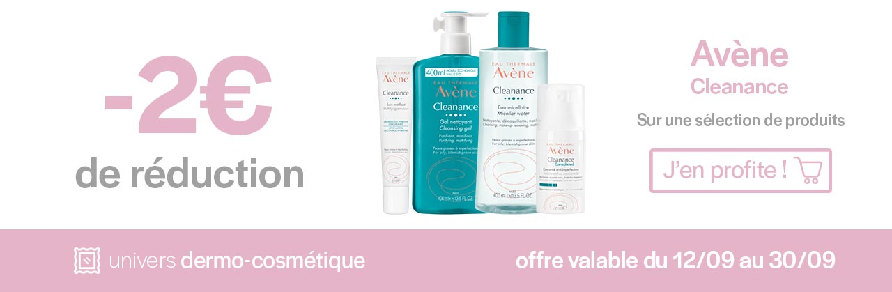 Promotions Avène Cleanance