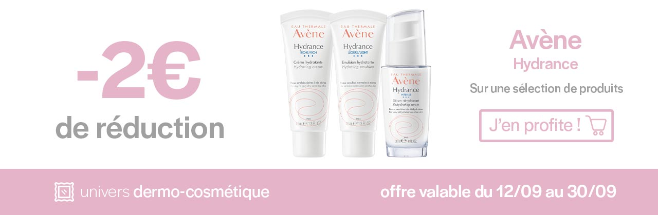 Promotions Avène Hydrance Univers Pharmacie