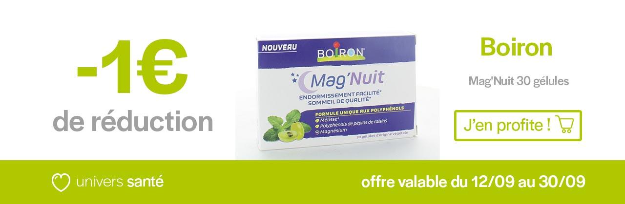 Promotion Mag'Nuit Boiron Univers Pharmacie
