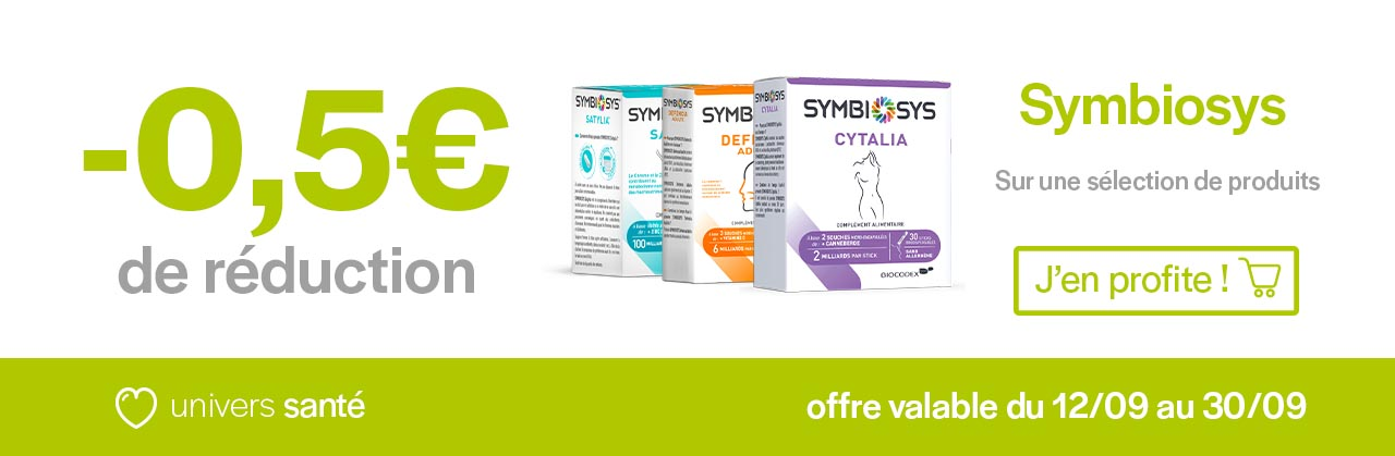 Promotions gamme Symbiosys Univers Pharmacie